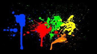 Vector selective coloring paint splatter neon wallpaper