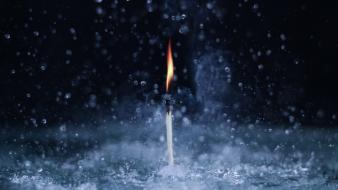 Water fire macro candles wallpaper