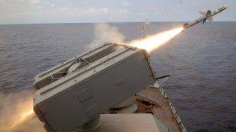Water ocean army military rockets navy rocket launcher Wallpaper