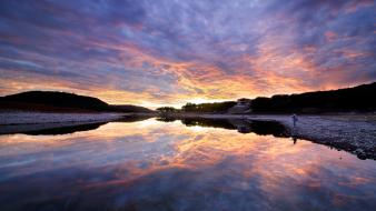Water sunset usa texas fishing lakes skyscapes reflections wallpaper