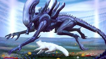 Wtf artwork alien wallpaper