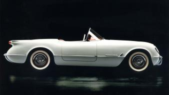 1953 White Corvette wallpaper
