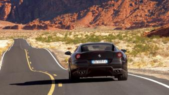 599 Gto Black Rear wallpaper