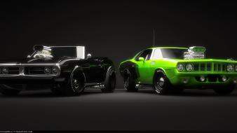 American cars digital art 3d wallpaper