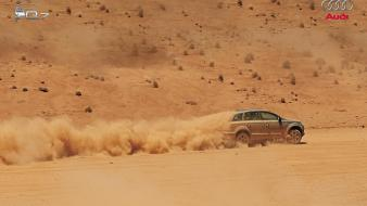 Audi Q7 In Desert wallpaper