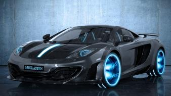 Black cars tron mclaren mp4-12c Wallpaper