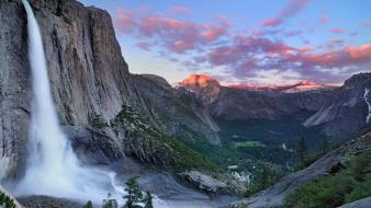 Blue skies upscaled yosemite national park forest wallpaper