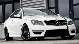 Cars coupe white mercedes benz c63 mercedes-benz amg Wallpaper