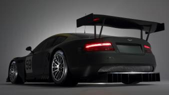 Dark aston martin rear wallpaper