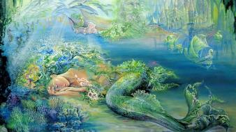 Fantasy paintings atlantis art dreams josephine wall mystical wallpaper