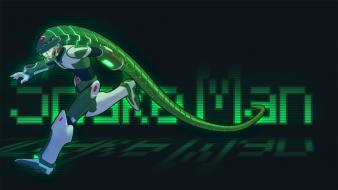 Green video games mega man glow Wallpaper