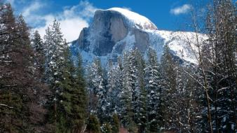 Half Dome In Winter wallpaper