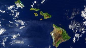 Hawaii From Satellite wallpaper