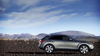 Infiniti Fx50 Silver Side wallpaper