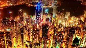 Kong glowing cities city around the world wallpaper