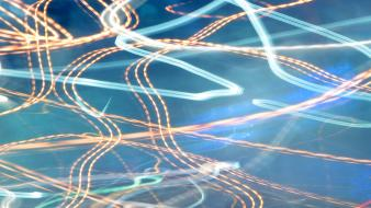 Light abstract blue orange long exposure blurred trails wallpaper
