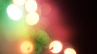 Light green abstract red bokeh blurred Wallpaper