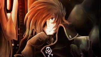 Lonely captain harlock anime boys albator blues wallpaper