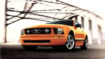 Orange Mustang wallpaper
