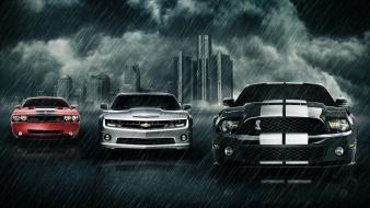 Rain cars ford chevrolet dodge wallpaper