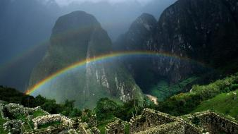 Rainbow Over Machu Wallpaper