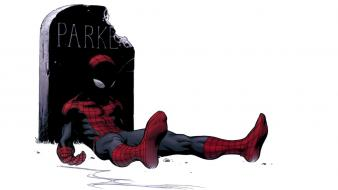 Spider-man tombstones marvel peter parker ultimate icon Wallpaper