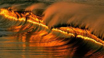 Sunset In The Waves wallpaper