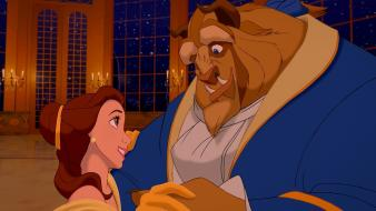 The beast dancing beauty and belle (disney) Wallpaper