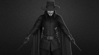 Weapons grayscale v for vendetta knives blades Wallpaper