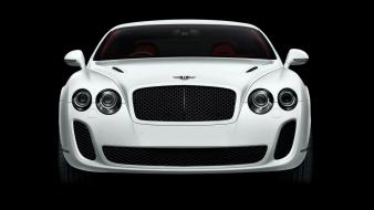 White bentley front wallpaper