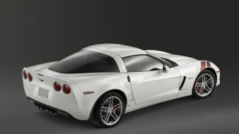 White Corvette Rear Angle wallpaper