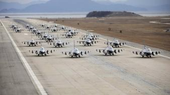 Aircraft groups runway fighter jets airforce wallpaper
