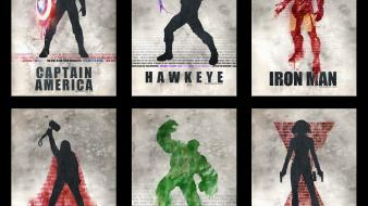 America black widow hawkeye the avengers (movie) wallpaper