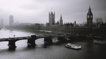 Black and white london artwork wallpaper