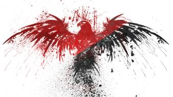 Black red white eagles anarchy Wallpaper