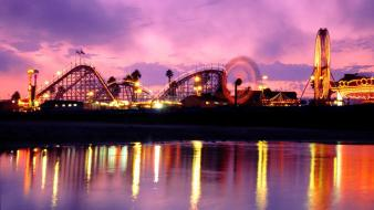 Boardwalk santa cruz twilight (time of day) wallpaper
