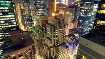 Cityscapes night buildings city lights cities wallpaper