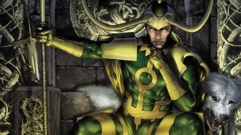 Comics marvel loki gods norse sceptres wallpaper