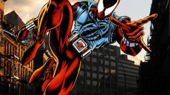 Comics superheroes marvel scarlet spider ben reilly wallpaper