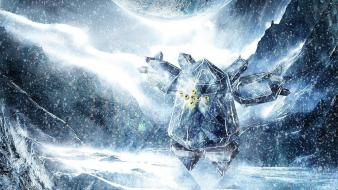 Deviantart digital art artwork snowing regice legendary wallpaper