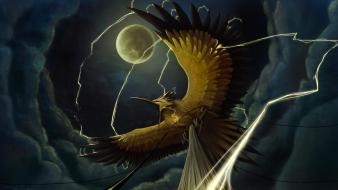 Deviantart electricity digital art artwork zapdos legendary Wallpaper