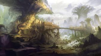 Fantasy art cities wallpaper