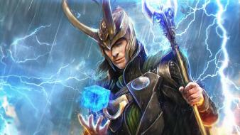 Fantasy art loki the avengers (movie) sceptres wallpaper