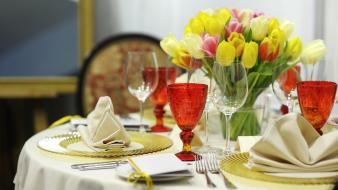 Flowers restaurant Wallpaper