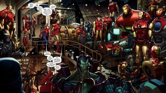 Iron man comics tony stark marvel ultimate spider-man Wallpaper