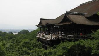 Japan architecture kyoto kiyomizu-dera wallpaper