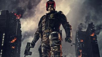 Judge dredd guns movies cars karl urban Wallpaper