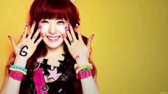 Korean k-pop faces tiffany hwang straight bangs wallpaper