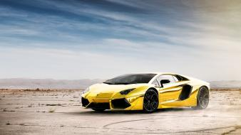 Landscapes desert advertisement lamborghini murcielago wallpaper