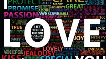 Love typography passion wallpaper
